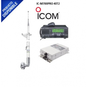 Kit de radio IC-M700pro con sintonizador de antena AT-130 y antena HF Shakespeare 393