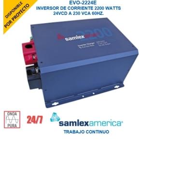 UPS Inversor Cargador Onda Pura 2200 W Alta Potencia, Ent:24 Vcd, Sal: 230Vca, 50/60 Hz