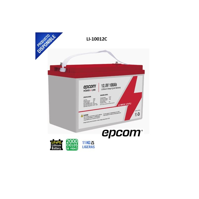 Batería de Litio Ciclo profundo 12.8 Vcd 100Ah (LiFePO4)