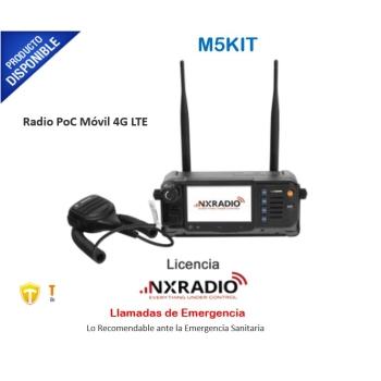 Radio PoC Móvil 4G LTE, Compatible con NXRadio, Pantalla Táctil de 4