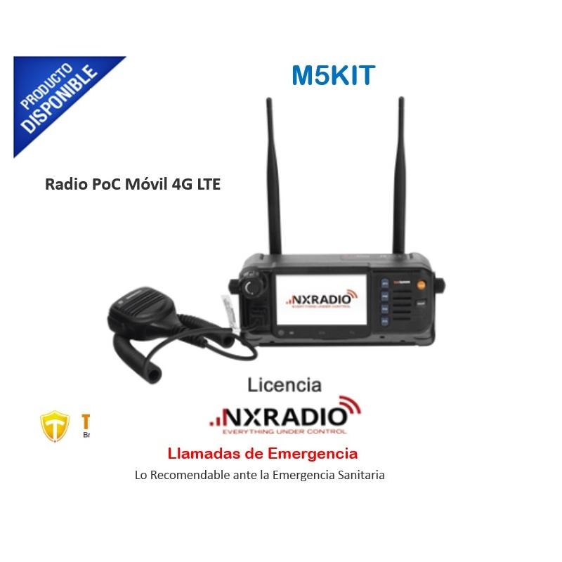 KIT Radio PoC + licencia NXRADIO, Incluye Radio PoC Móvil 4G LTE M5