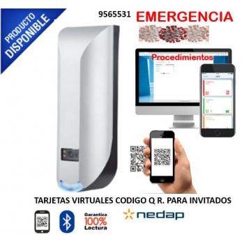 Lector de códigos QR / tarjetas convencionales y tarjetas virtuales via BLUETOOTH y NFC / Administración en la NUBE / Salida WIEGAND compatible con cu