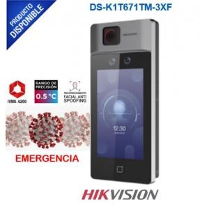Biométrico para Acceso con Reconocimiento Facial / Monitoreo y reportes en Excel por software / 50 mil usuarios / Termografia Industrial