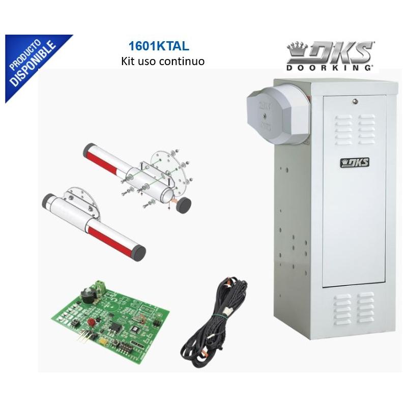 Kit Barrera 1601 Blanca / Mástil de aluminio 4 metros/Incluye: sensor de masa y loop. uso continuo 24/7