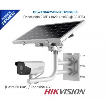 Kit All in One / Cámara Bala 2 Megapixel / Panel Solar / Batería de Respaldo (Hasta 60 Días) / Conexión 4G / Accesorios de Instalación