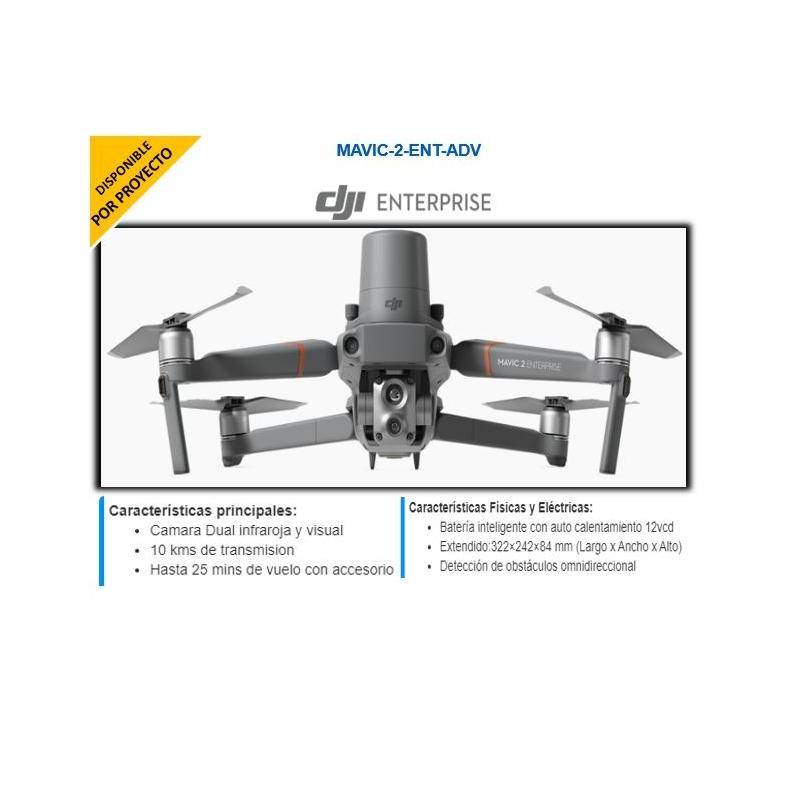 Drone DJI Mavic 2 Enterprise Advanced Edición Universal/ Dual Cámara(visual e infrarroja) /Hasta 10kms de transmisión