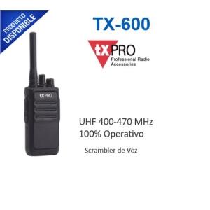 Radio Portátil UHF, 5W de Potencia, Scrambler de Voz, Alta Cobertura, 400-470 MHZ