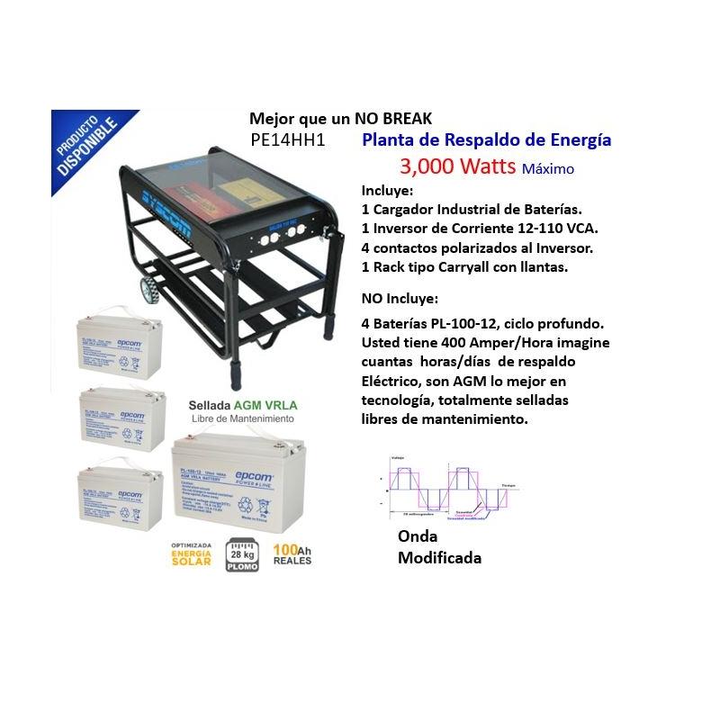 Planta de Respaldo de Energía de 3,000 Watts Máximo PE-14HH1