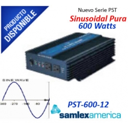 Inversor de Corriente (CD-CA) hasta 600 Watts. Onda Sinusoidal Pura PST60012