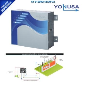 Energizador de 12,000Volts-1.2JOULES/700 Mts de protección para 5 Lineas/Activado por Atenuación de voltaje,Corte de línea o Aterrizamiento de la líne