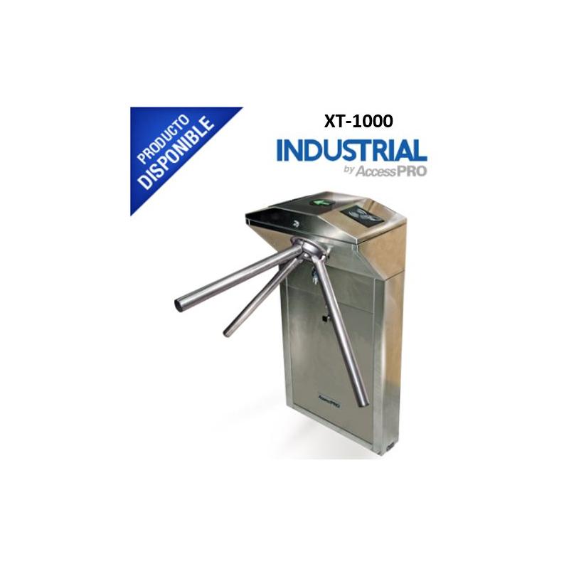 Torniquete Industrial en Acero, Bidireccional, Espacio para Lectora de Prox, Interiores  XT1000