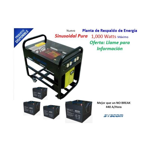 Planta de Energía 1000 Watts 120 VCA. PEP-ST-1000