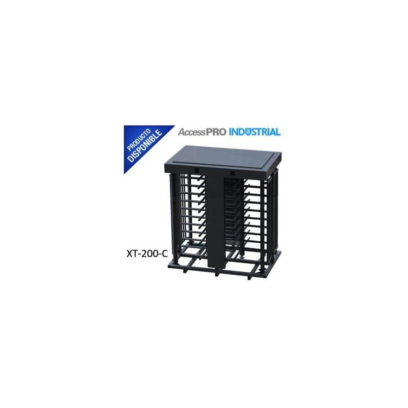 Torniquete Doble Exterior/Interior, Fabricado en 100% Acero + Pintura Gris para Exterior.  XT200C