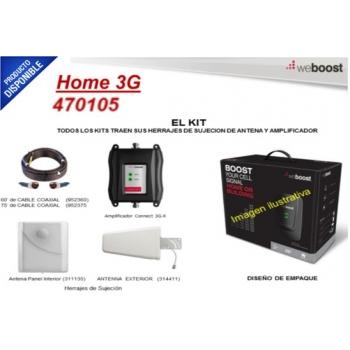Kit repetidor Doble Banda para cobertura celular, especial para 3G (H+) y 2G (E), cubre áreas de hasta 800m².  470105
