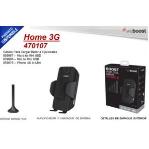 Kit amplificador de señal celular cuatribanda para vehículo, especial para 4G LTE, 3G y 2G, monousuario.  470-107