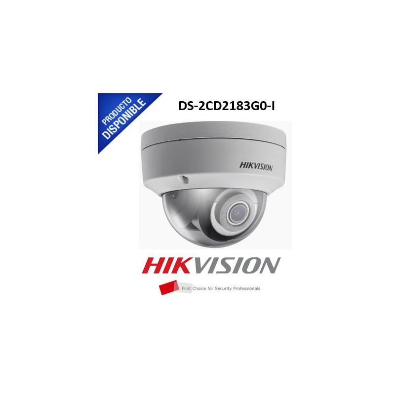 Domo IP 8 Megapixel / 30 mts IR EXIR / Exterior IP67 / IK10 / Lente 2.8 mm / WDR / PoE  DS-2CD2183G0-I