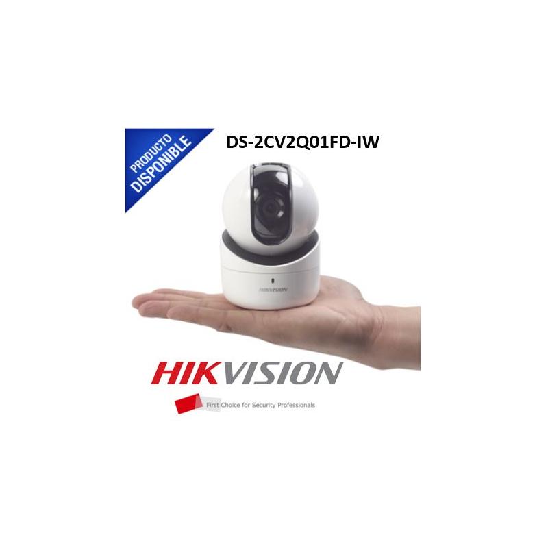 Mini Domo PT IP 1 Megapixel / Interior / 5 mts IR / dWDR / MicroSD / Bocina y Micrófono Integrado / Uso Residencial / Lente 2.8 mm  DS-2CV2Q01FD-IW