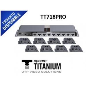 Kit completo Distribuidor HDMI 1 X 8 TT718PRO