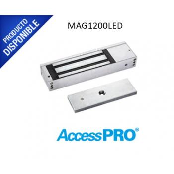 Chapa magnética de 1200 lbs / Sensor de la placa / Uso en Interior/ LED indicador MAG1200LED