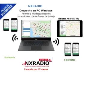 Administre su Flotilla desde su Smartphone, directo o por Grupos, ubíquelos por GPS con mas seguridad en sus operaciones en 3/4G (850MHz-1900MHz) NXRA