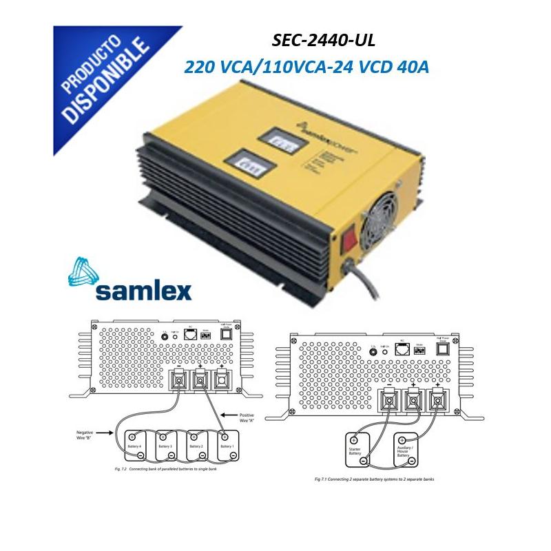 Cargador de Batería Plomo Ácido 24 Volts, 40 Amps SEC-2440-UL