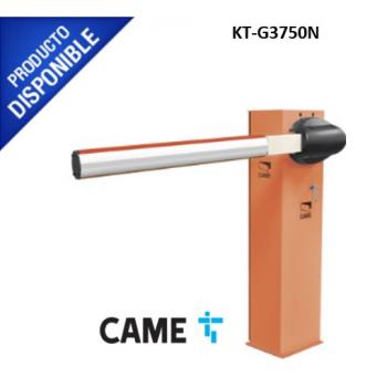 Kit de barrera vehicular CAME G3750 / Gabinete naranja / Incluye mástil de 4 metros sin iluminación / Incluye resorte 001G04060 (Resorte verde)