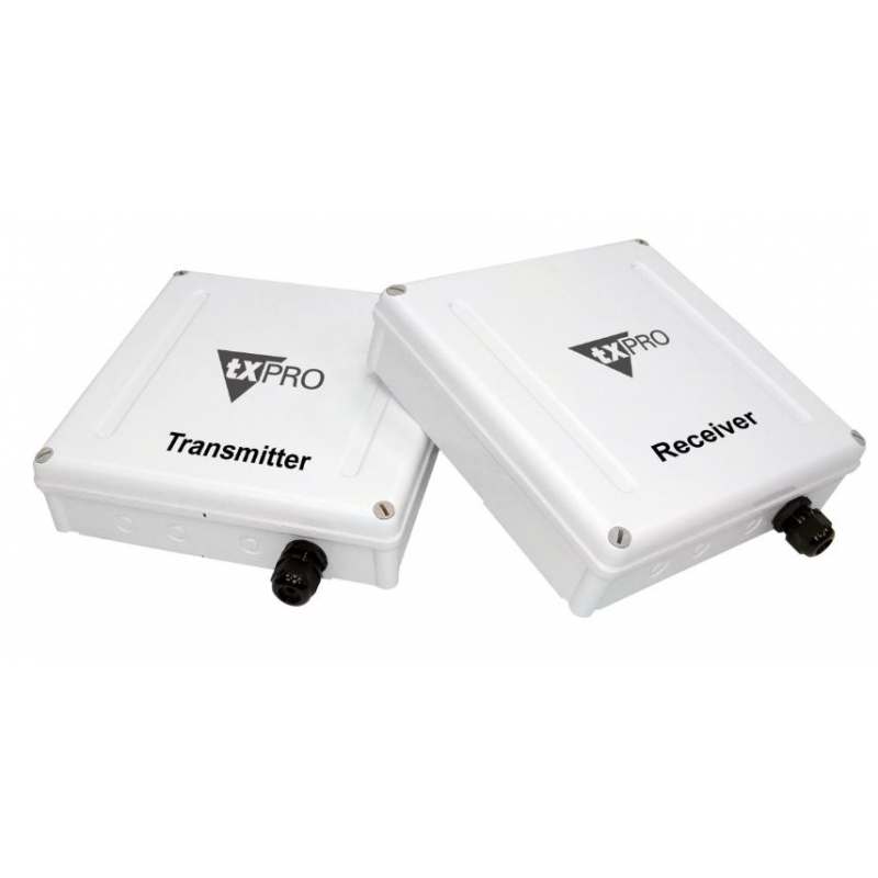 Kit de transmisión de video y audio inalámbrico para cámaras analogas.  TXC2.4GELV