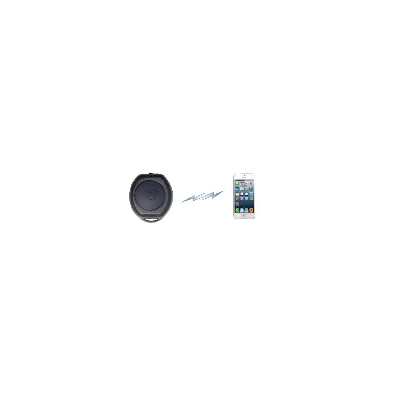Mini switch Bluetooth con banda de velkro para celular (IOS/ANDROID) para PoC, batería incluida. BT-PTT-ZU-STRAP
