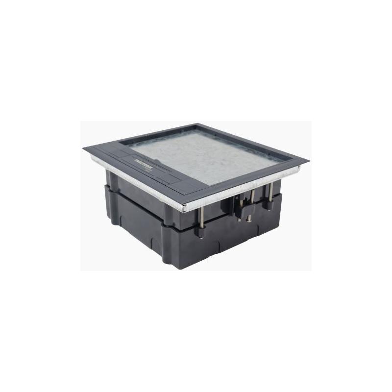 Caja de piso para cuatro módulos universales (Socket M4), para alimentación eléctrica y redes de datos  TH-CP-4M