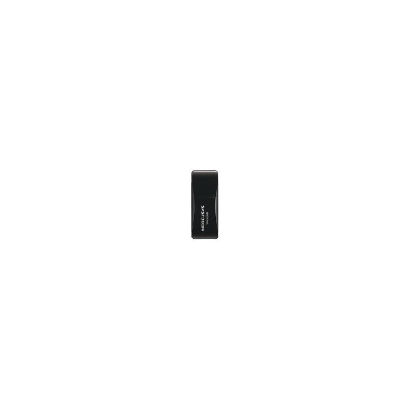 Adaptador inalámbrico N USB 2.0 de 300 Mbps 2.4 GHz, 2T2R con 2 antenas internas MW300UM